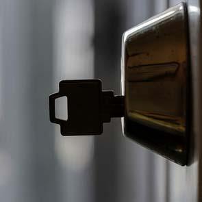 key is in the door lock