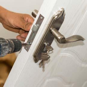 lock repair with a screwdriver
